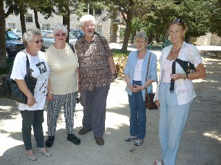 Rev. & Mrs. Heine at JLSS with Ladies from the German Church in Beirut